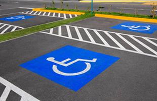 Разметка парковки для инвалидов